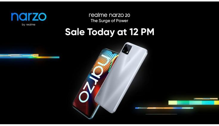 Realme Narzo 20A: First Sale Available On Flipkart After 12 Noon