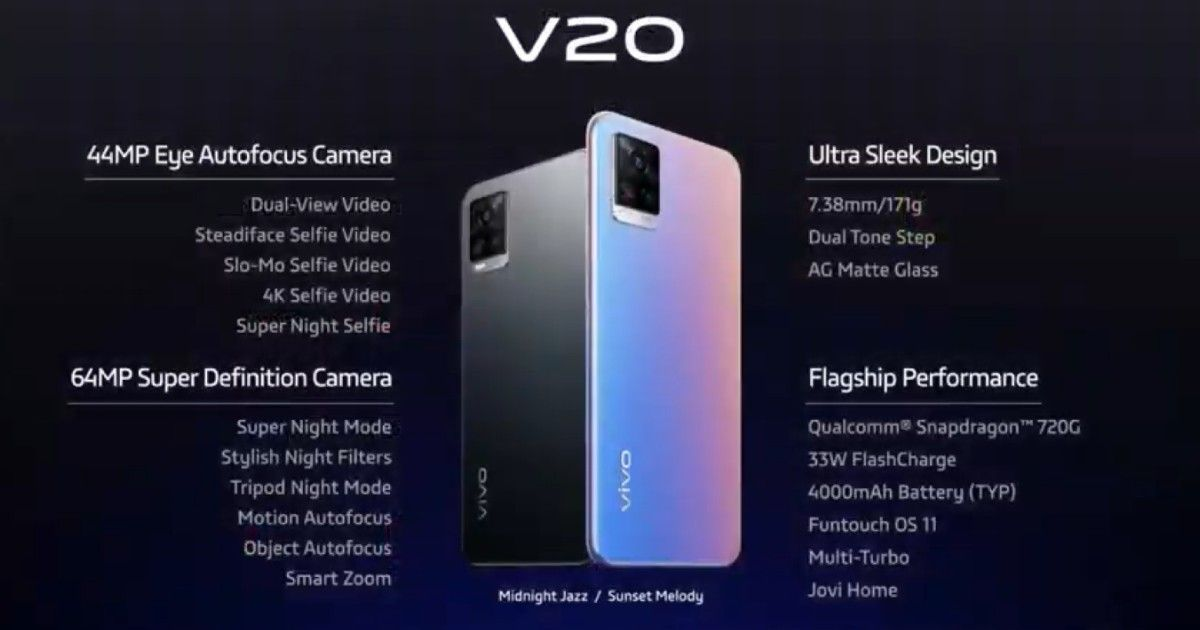 Vivo Launches India's First Android 11 Smartphone Vivo V20